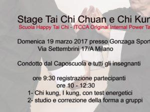 Satge Scuola Happy Tai Chi – ITCCA  19 marzo 2017