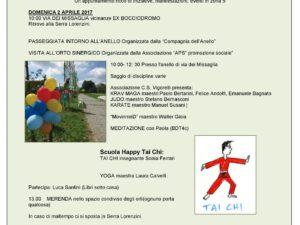 domenica 2 aprile dimostrazione della scuola con Sonia Ferreri