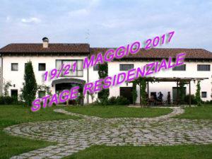 19/21 maggio 2017 Stage Residenziale